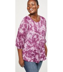 lane bryant women's tie-dye high-low top 14/16 winetasting