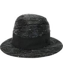 maison michel bobbie silk hat - black