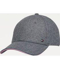 tommy hilfiger men's organic cotton cap dark grey melange -