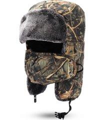 mens camouflage inverno caldo cappello lei feng cappello in pile di cotone antivento sciolto ciclismo fronte sci maschera cap