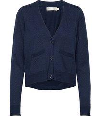 hilleriiw cardigan gebreide trui cardigan blauw inwear