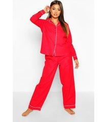geborstelde pyjama set met knopen en broek