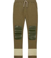 oilily helder groene sweatpants met slijtvaste knieën-