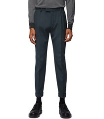 boss men's olleg cropped tapered-fit trousers