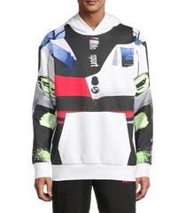 puma men's bmw m motorsport street hoodie - white - size s
