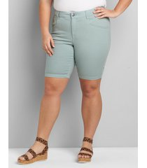 lane bryant women's signature fit slim bermuda short 26 jadeite