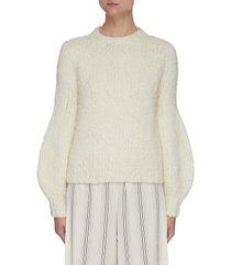 clarissa' lantern sleeve sweater