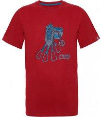 polera hombre climb cotton t-shirt rojo oscuro lippi