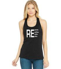regata feminina algodão repense reutilize recicle repita