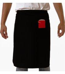 avental oitavo ato de cintura pan preto