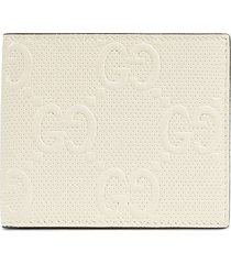 gucci gg supreme leather wallet - white