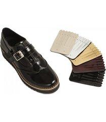 zapatos mujer puchetty niza negro cuero