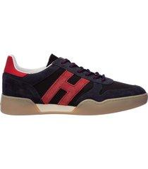 scarpe sneakers uomo camoscio h357