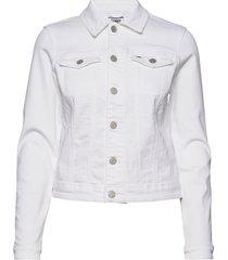 slim trucker jacket jeansjacka denimjacka vit tommy jeans