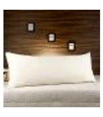 fronha com zíper para travesseiro 45 x 145 - marfim