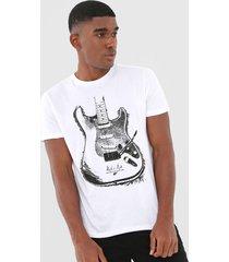camiseta ellus guitar branca