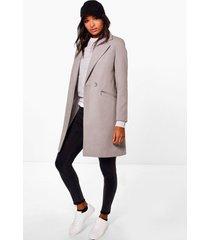 getailleerde jas met ritszakken, grijs