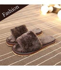 pantofole basse al chiuso slip-on a punta aperta slippers di pelliccia