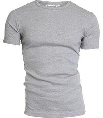 garage basis t-shirt ronde hals semi bodyfit grijs