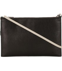rick owens performa rectangle pouch bag - brown