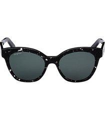 salvatore ferragamo women's 54mm cat eye sunglasses - black