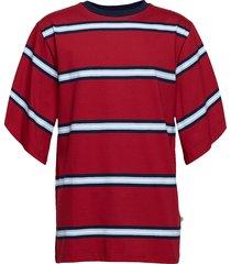 caleb tee - burgundy t-shirts short-sleeved röd martin asbjørn