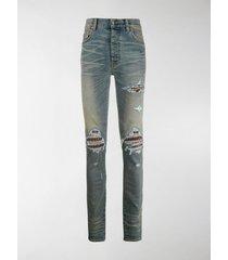 amiri mx1 ripped skinny jeans