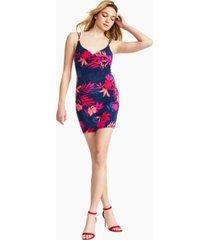 guess noura floral-print mini dress