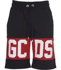 gcds black shorts with logo