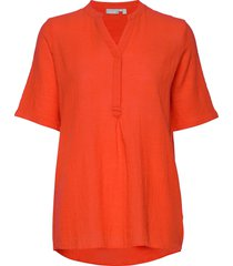 frjaslub 4 shirt blouses short-sleeved orange fransa