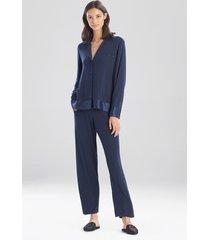 jersey essentials silk sleepwear pajamas & loungewear, women's, 100% silk, size m, josie natori