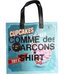 comme des garçons shirt tote multicolor delicious bag
