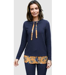 sweatshirt paola marine::okergeel
