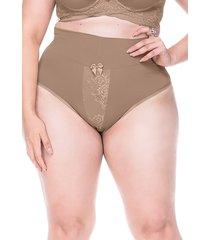 calcinha sempre sensual lingerie cora marrom claro - kanui