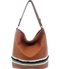 secchio di cuoio delle donne pu borsa borsa a tracolla casuale della borsa della grande capacità borsa