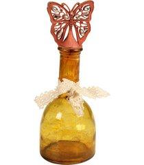 garrafa decorativa de vidro papillon
