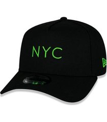 boné new era 9forty aframe simple signature fluor nyc aba curva snapback