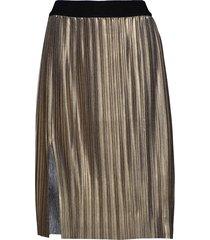 nilla chilla midi skirt knälång kjol guld bruuns bazaar