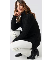 trendyol long knitted sweater - black