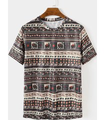 hombres summer casual soft tribal all print camiseta