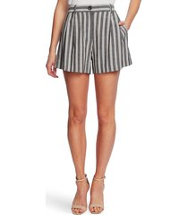 women's cece pleat front double stripe shorts, size 10 - black