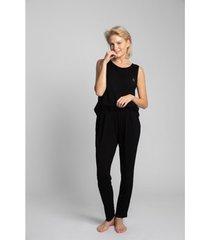 pyjama's / nachthemden lalupa la025 viscose pyjamabroek - zwart