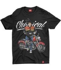 camiseta anime goku motorcycle - unissex