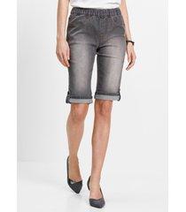 jeans bermuda met elastische band