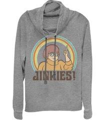 fifth sun scooby-doo velma jinkies cowl neck juniors pullover fleece