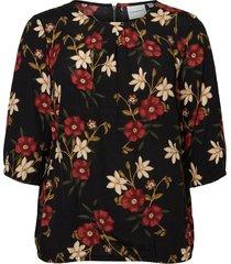 blouse met 3/4 mouwen gebloemde