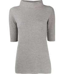 fabiana filippi knitted structured top - grey