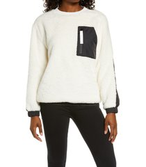 women's ugg furry crewneck sweatshirt, size x-large - ivory
