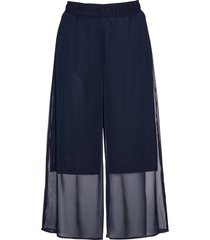 pantaloni culotte in chiffon (blu) - bpc selection