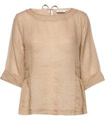 eden blouse lange mouwen beige masai